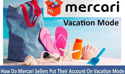Mercari Vacation Mode for vendors@
