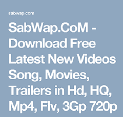 Sabwap Movies Games Videos MP3 Downloads