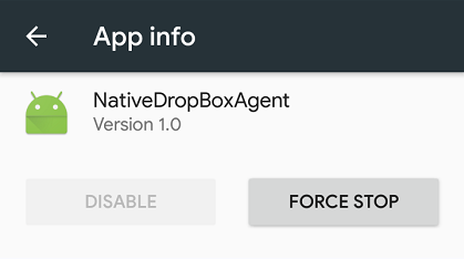 NativeDropboxAgent what is it