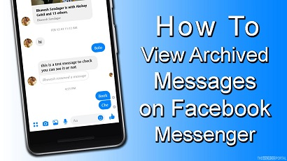 How to View Archived Messages on Facebook Messenger App 2021