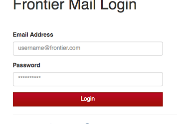 Frontier Mail Login Page 2021