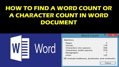 How To Count Words in Word Count Characters in MS Word