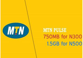 MTN 500 for 1.5GB Pulse Data Plan